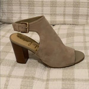Sam Edelman Sand Colored Bootie Sandals